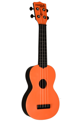 Kala Waterman Ukulele w/Backpack Tote (Dark Orange) - Ukulelet - YKLMK-SWBRD - 1