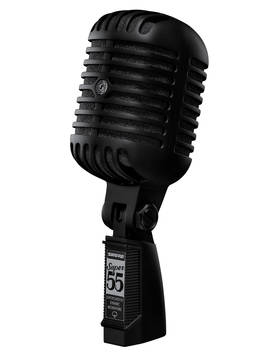 Shure Super 55 Pitch Black Special Edition mikrofoni - Dynaamiset laulumikrofonit - SUPER55-BLK - 1