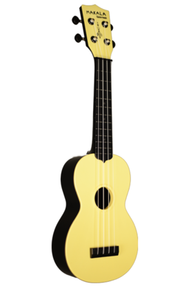 Kala Waterman Ukulele w/Backpack Tote (Pale Yellow) - Ukulelet - YKLMK-SWBYL - 1