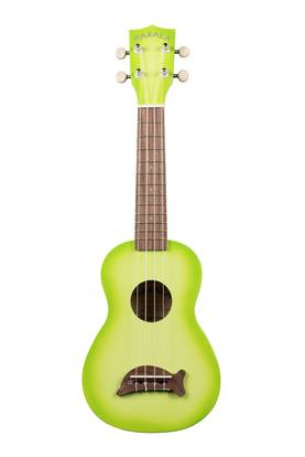 Kala Soprano Dolphin Bridge Green Apple Burst ukulele - Ukulelet - YKLMK-SDGRNBURST - 1